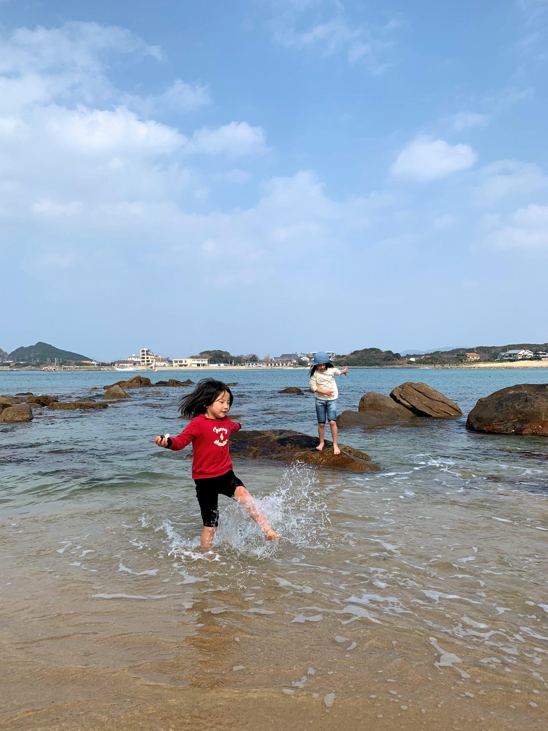 糸島の立石山は子連れに最高!!②芥屋の海岸で海遊び!!
