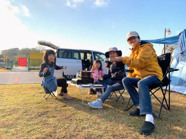 【母子キャンプ 】 in 竜王山オートキャンプ場③遊具と朝ご飯と撤収