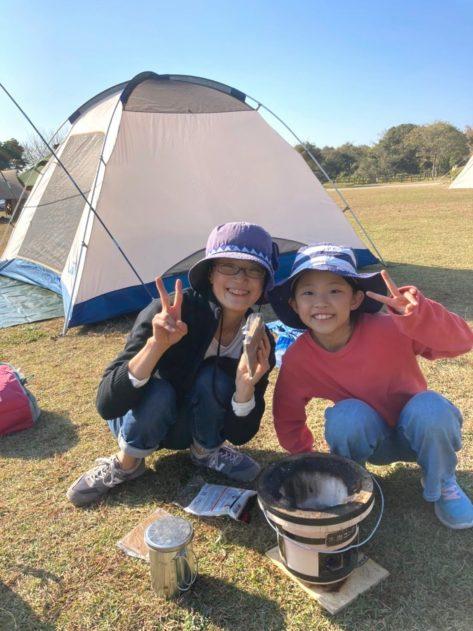 【母子キャンプ】 in 竜王山オートキャンプ場①テント設営~お風呂