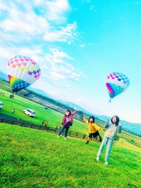 【子連れ阿蘇・唐津】⑤気球に乗ったぞー!!!!(≧▽≦)